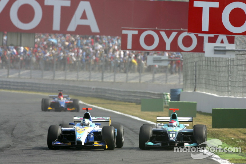 Lewis Hamilton et Nelson A. Piquet
