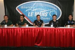 Press conference: Darren Turner, Pedro Lamy, Scott Maxwell, Tom Milner and Gunnar Jeannette