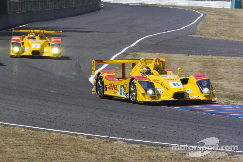 #6 Penske Motorsports Porsche RS Spyder: Sascha Maassen, Lucas Luhr #7 Penske Motorsports Porsche RS Spyder: Timo Bernhard, Romain Dumas