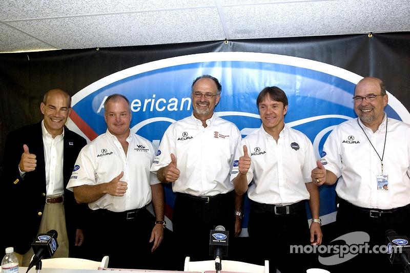 Conférence de presse Acura: Duncan Dayton, Adrian Fernandez, Kim Green, Scott Atherton et Robert Clarke