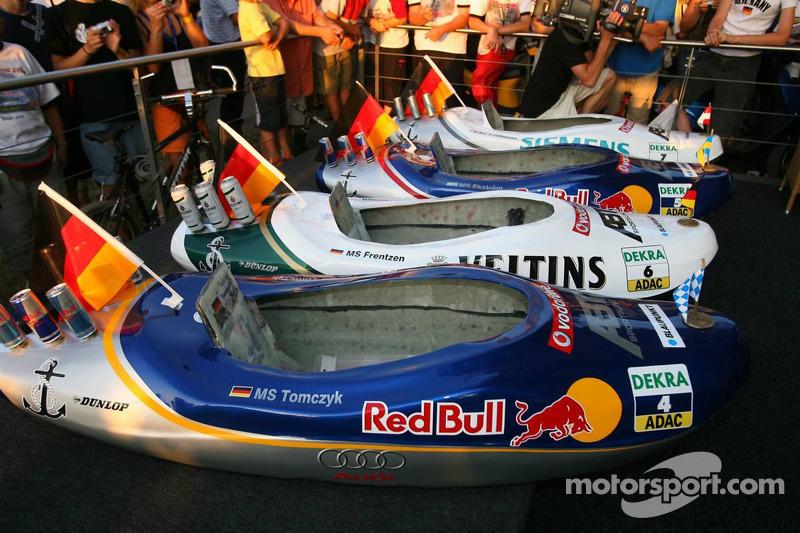 Présentation des bateaux pour la course à Zandvoort: bateaux de Martin Tomczyk, Heinz-Harald Frentze