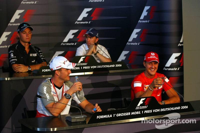 Conférence de presse de la FIA le jeudi: Ralf Schumacher, Michael Schumacher, Nick Heidfeld et Nico