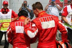 Felipe Massa y Michael Schumacher