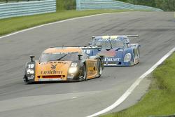 #10 SunTrust Racing Pontiac Riley chases #19 Playboy/ Uniden Racing Ford Crawford