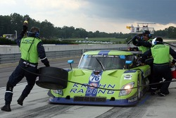Pitstop for #76 Krohn Racing Ford Riley: Jorg Bergmeister, Colin Braun