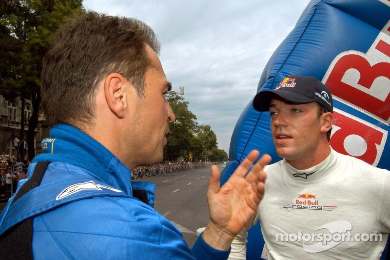 Red Bull Show Run Budapest: Hungaroring Presidente Laszlo Palik y Robert Doornbos