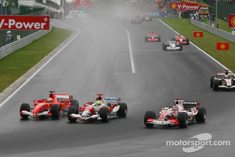 Felipe Massa, Ralf Schumacher y Takuma Sato