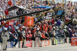 Miller Lite Dodge and Home Depot Chevy crew members ready for a pitstop