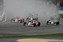 1st lap action
