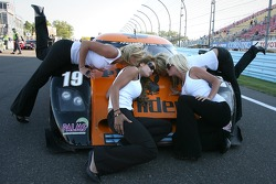 The lovely Playboy Playmates pose with the #19 Playboy/ Uniden Racing Ford Crawford: Memo Gidley, Michael McDowell
