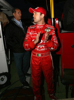 Luis Diaz watches the last lap