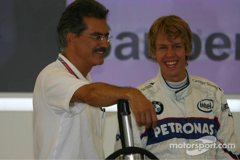 Dr. Mario Theissen con Sebastian Vettel