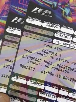 Pre Venta de boletos Gran Premio de México