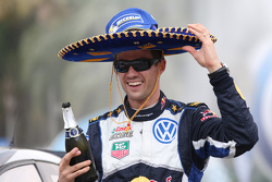 Le vainqueur Sébastien Ogier, Volkswagen Polo WRC, Volkswagen Motorsport