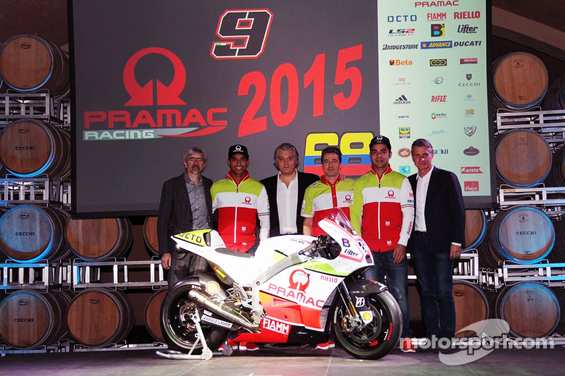 Yonny Hernandez und Danilo Petrucci mit der Pramac Racing Ducati