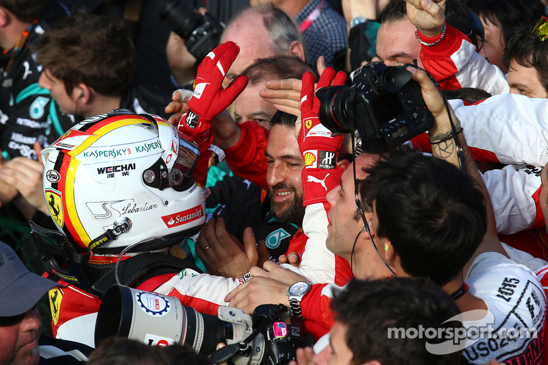 Peringkat ketiga Sebastian Vettel, Ferrari