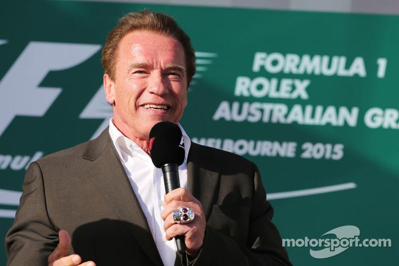 Arnold Schwarzenegger, di podium