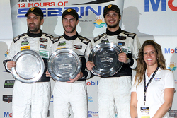 GTD class podium: winners Ian James, Mario Farnbacher, Alex Riberas