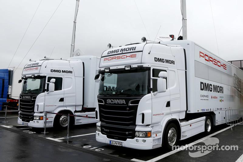 Porsche Team, Trucks sind bereit für den Prolog