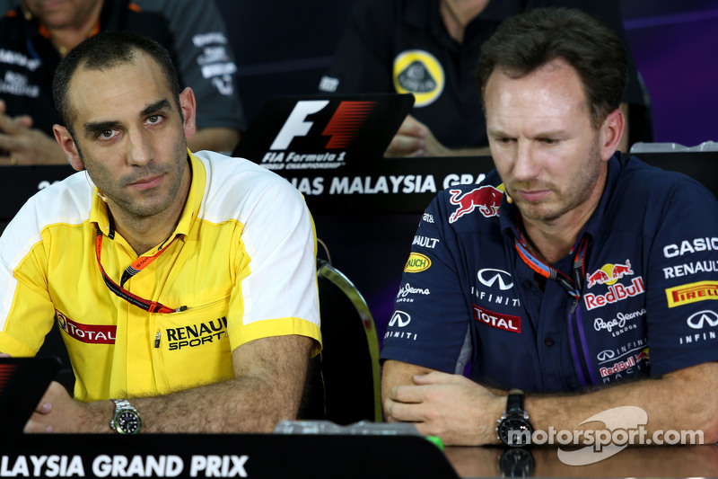 Cyril Abiteboul, Renault Sport F1 dan Christian Horner, Red Bull Racing, Sporting Director