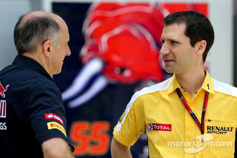Franz Tost, Scuderia Toro Rosso, Teamchef, und Remi Taffin, Renault Sport F1, Leiter Rennbetrieb