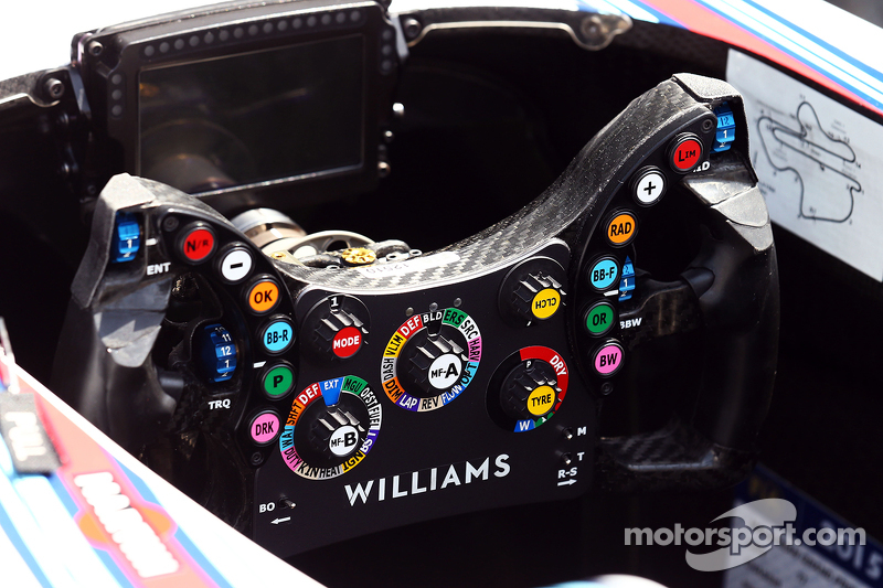 Williams FW37 steering wheel