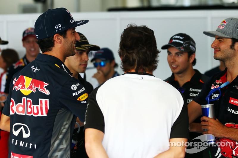 Daniel Ricciardo, de Red Bull Racing en el desfile de los conductores