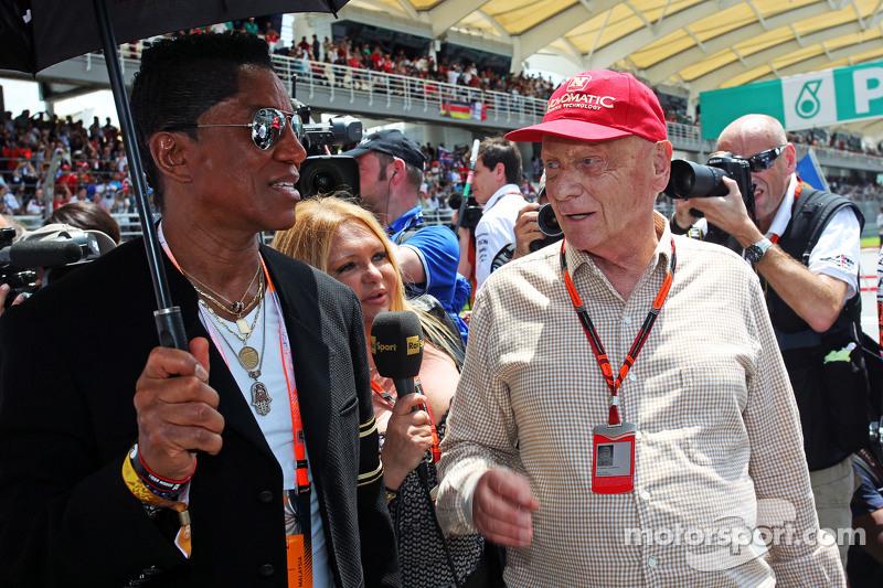 Jermaine Jackson, Cantante con Niki Lauda, Mercedes Presidente no ejecutivo