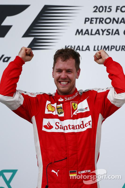 Race winner Sebastian Vettel, Ferrari