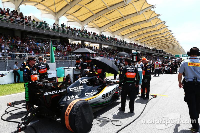 Sergio Perez, Sahara Force India F1 VJM08 en la pista