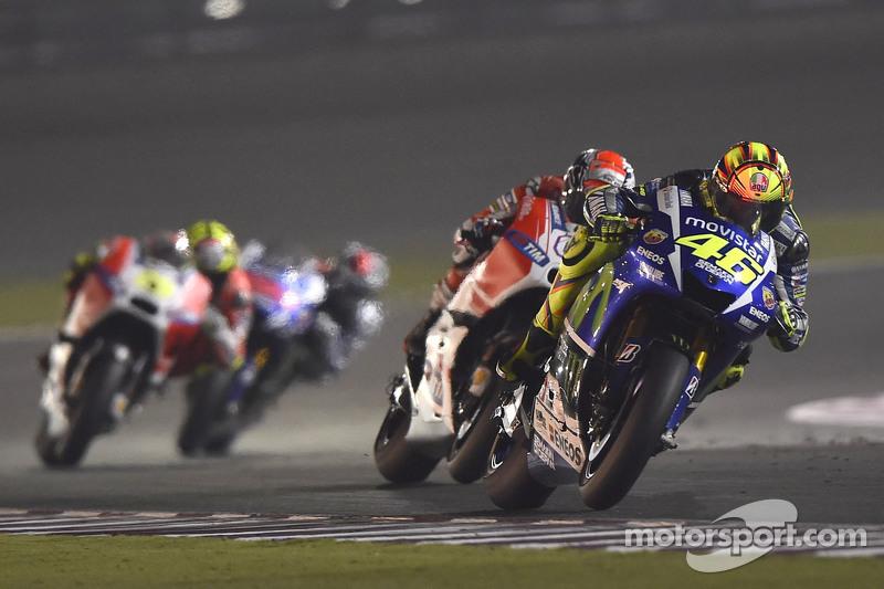 Valentino Rossi, Yamaha Factory Racing dan Andrea Dovizioso, Ducati Team