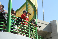 Photographers at a high angle
