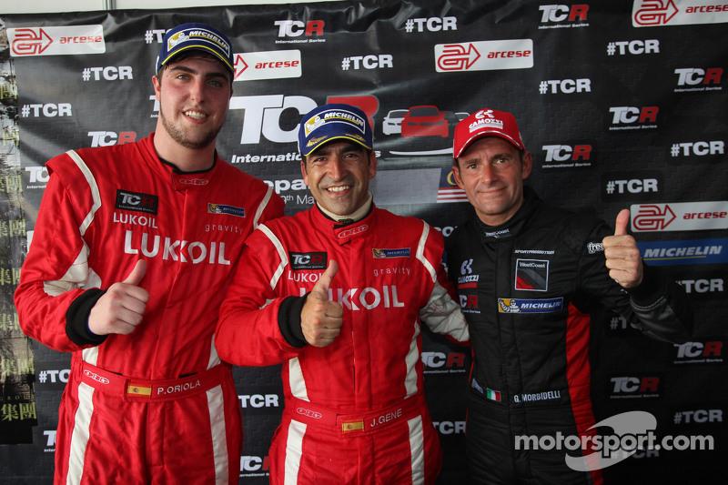 Press conference, Pepe Oriola, SEAT Leon Racer, Craft Bamboo Racing LUKOIL, Jordi Gene, SEAT Leon Ra