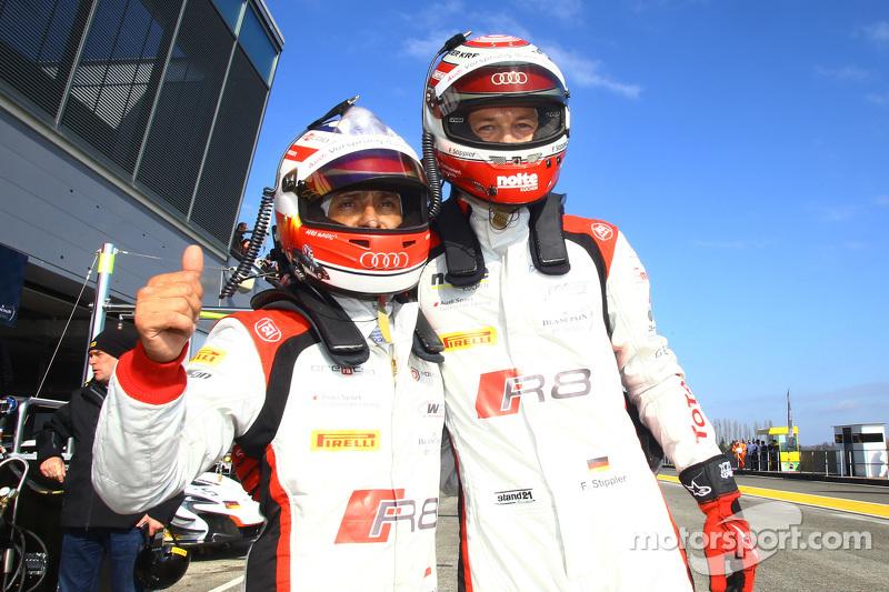 Ganador de la pole Stéphane Ortelli con el quinto puesto Frank Stippler