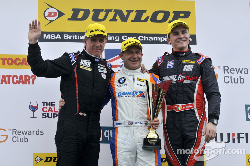 Podium: 1. Rob Collard, 2. Aron Smith, 3. Jason Plato