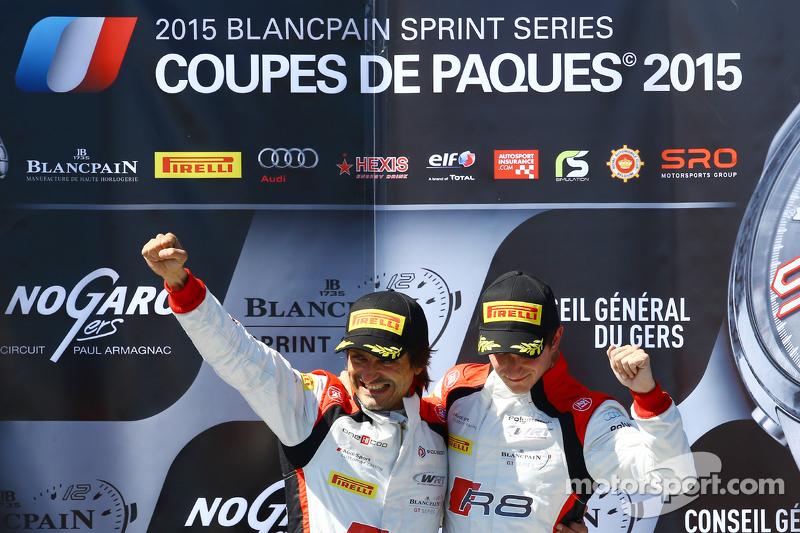 Podium: 1. Stéphane Richelmi, Stéphane Ortelli; Belgian Audi Club Team WRT