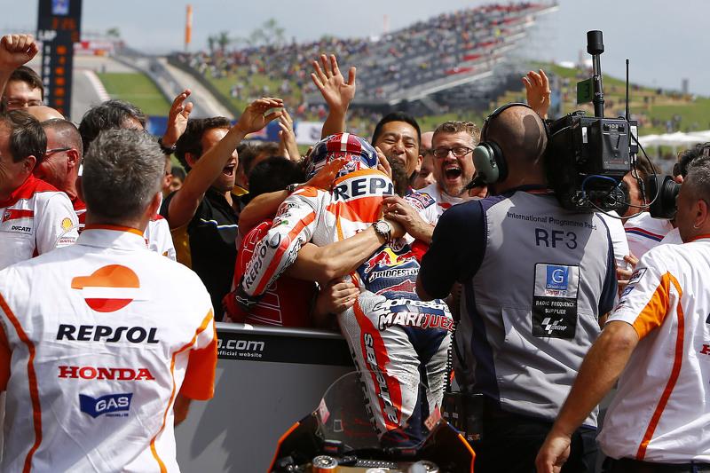 Pemenang balapan: Marc Marquez: Repsol Honda Team