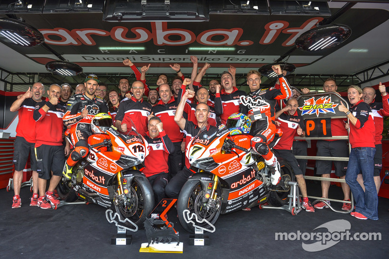 Ducati Team celebrates the win