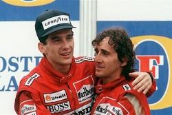 Ayrton Senna e Alain Prost, companheiros e rivais na McLaren