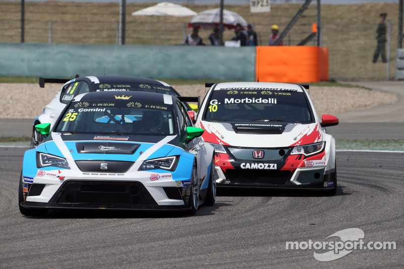 Stefano Comini, SEAT Leon Racer, Target Competition; Gianni Morbidelli, Honda Civic TCR, West Coast