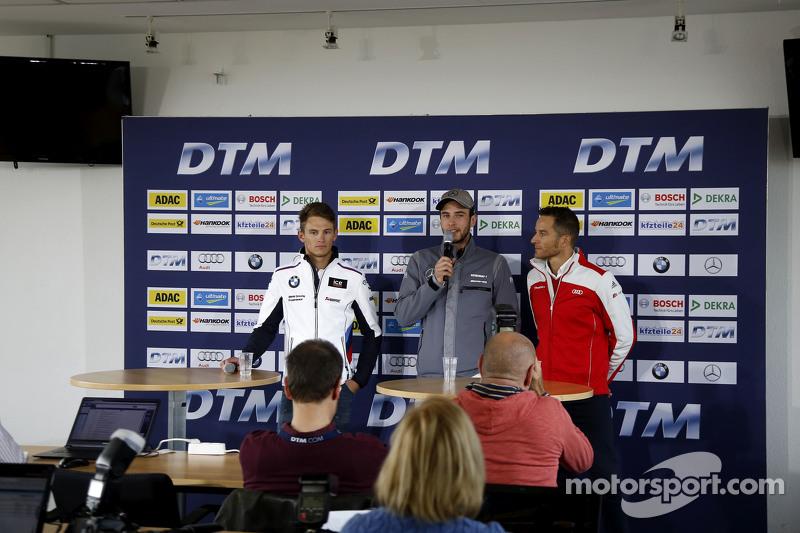 Марко Віттман, BMW Team RMG BMW M4 DTM, Крістіан Фіторіс, HWA AG Mercedes-AMG C63 DTM, Тімо Шайдер, Audi Sport Team Phoenix Audi RS 5 DTM at the DTM день медіа
