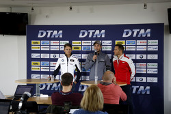 Marco Wittmann, BMW Team RMG BMW M4 DTM, Christian Vietoris, HWA AG Mercedes-AMG C63 DTM, Timo Scheider, Audi Sport Team Phoenix Audi RS 5 DTM at the DTM Media Day