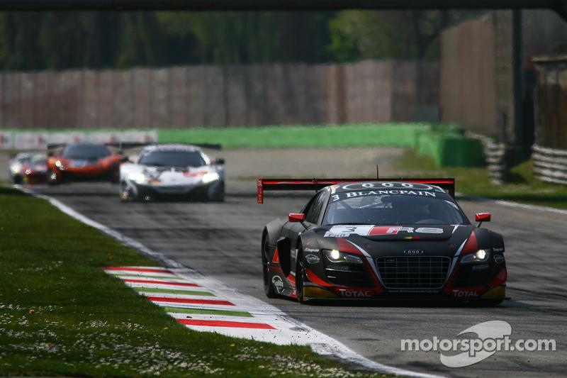 #3 Belgian Audi Club Team WRT, Audi R8 LMS ultra: Stéphane Richelmi, Kelvin van der Linde, Christopher Mies