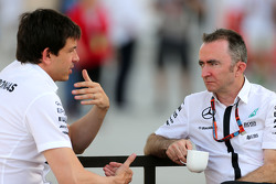 Toto Wolf, Mercedes GP and Paddy Lowe, Mercedes AMG F1 Executive Director