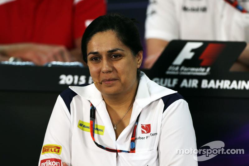 Monisha Kaltenborn, Sauber-Teamchefin, in der FIA-Pressekonferenz
