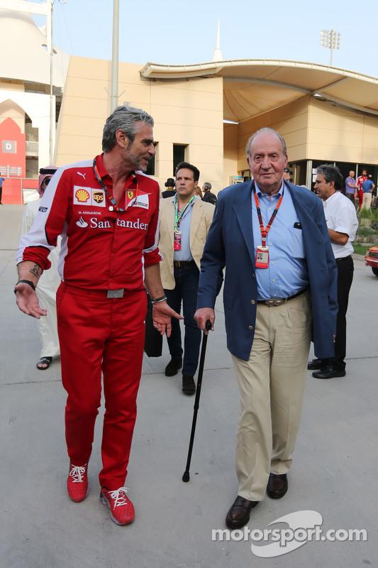 Мауріціо Аррівабене, Керівник Scuderia Ferrari з Попередній Король Іспанії Хуан Карлос