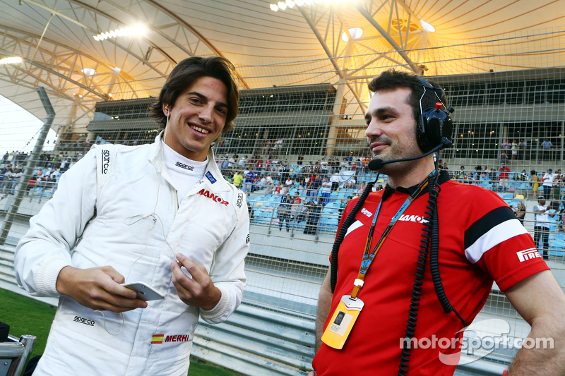 Roberto Merhi, Manor F1 Team, in der Startaufstellung