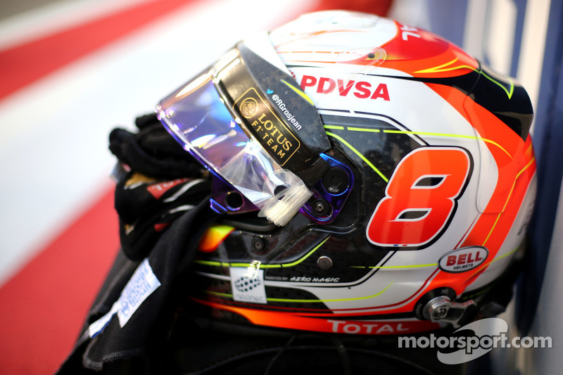 Capacete de Romain Grosjean, Lotus F1 Team