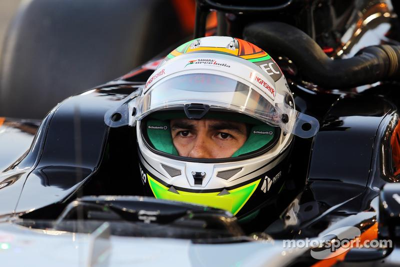 Sergio Perez, Sahara Force India F1 VJM08 di grid
