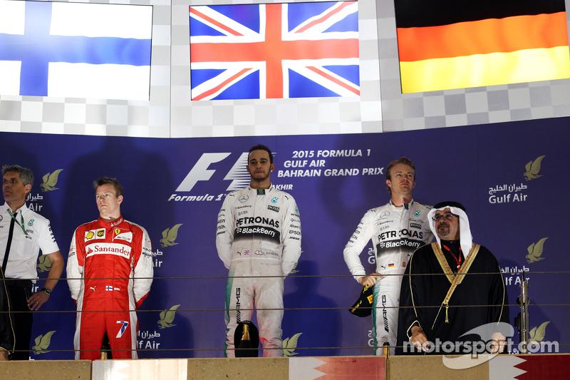 2015: Lewis Hamilton, Kimi Räikkönen, Nico Rosberg